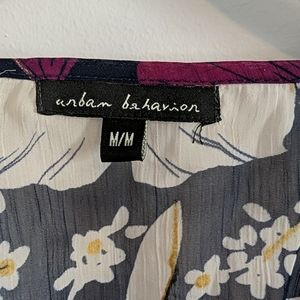 Urban Behavior Tops - Sheer floral blouse